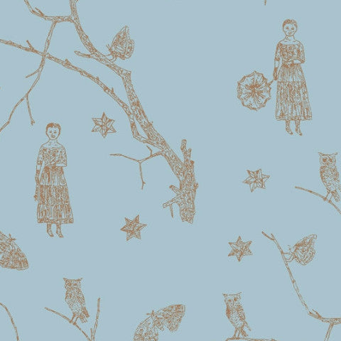 Maiden & Moonflower wallpaper by Kiki Smith