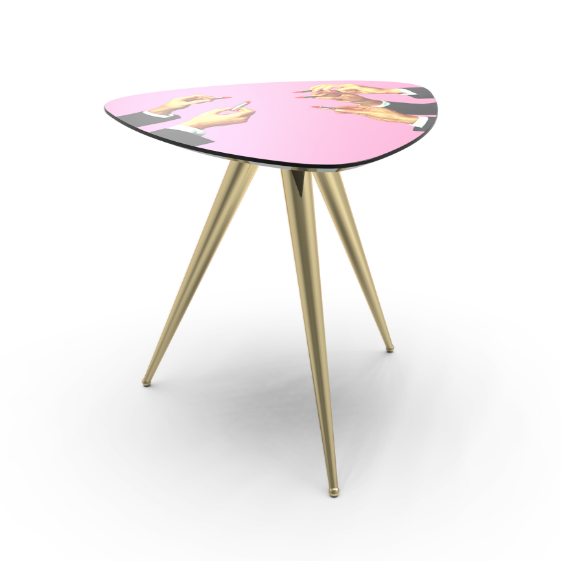 Side Table (Pink Lipsticks) by Maurizio Cattelan