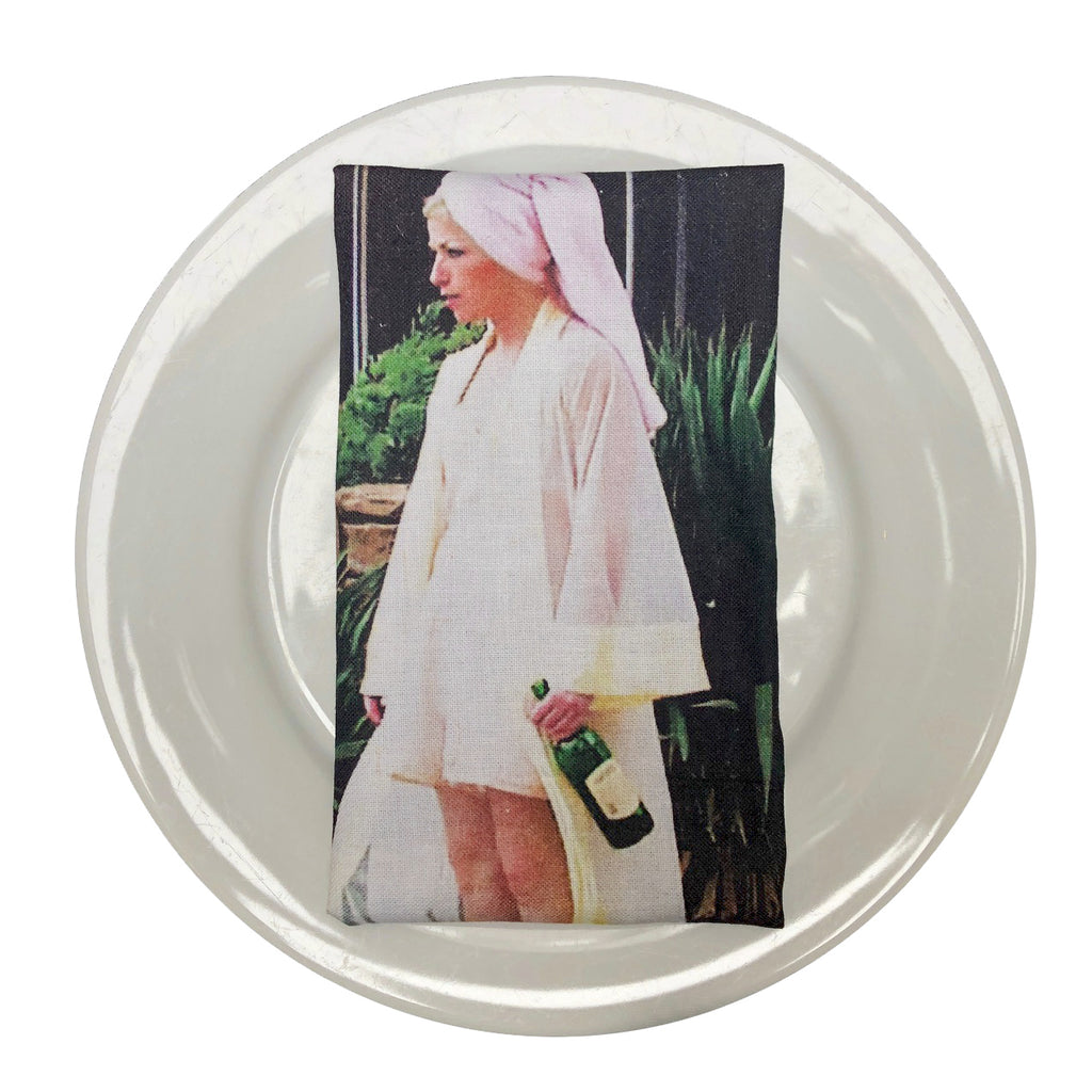 Drunkstance Napkins by Cindy Sherman