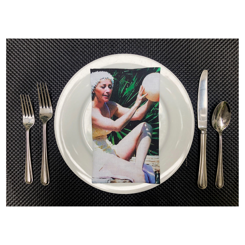 Poolball Napkins by Cindy Sherman