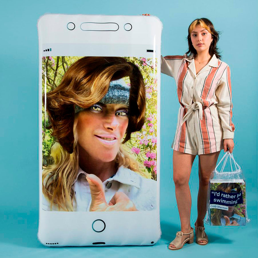 Oops Phone Pool Float by Cindy Sherman