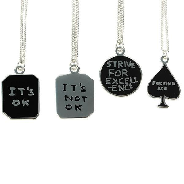 Strive for Excellence Necklace by David Shrigley