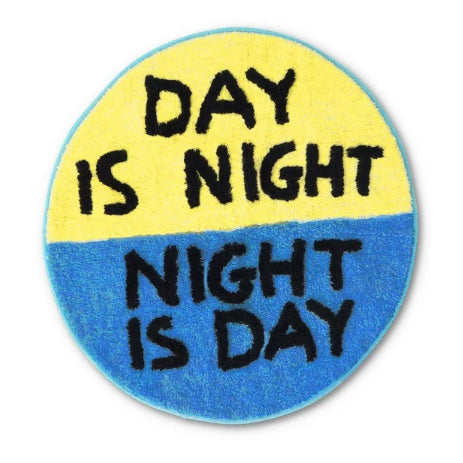 Day is Night Floor Mat by David Shrigley