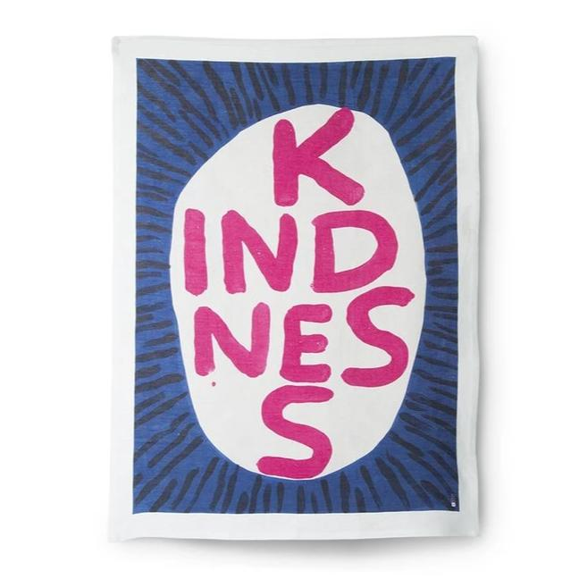 Kindness Kitchen Towel by David Shrigley
