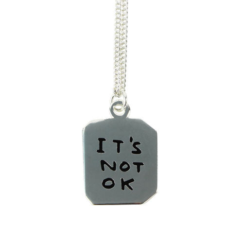It's OK / Not OK Necklace by David Shrigley