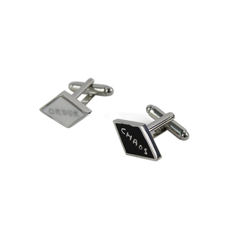 Order/Chaos Cufflinks by David Shrigley