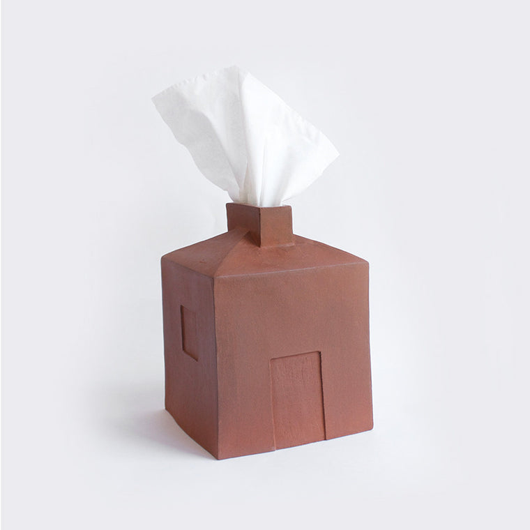 Clay House Tissue Holder by Elise Siegel