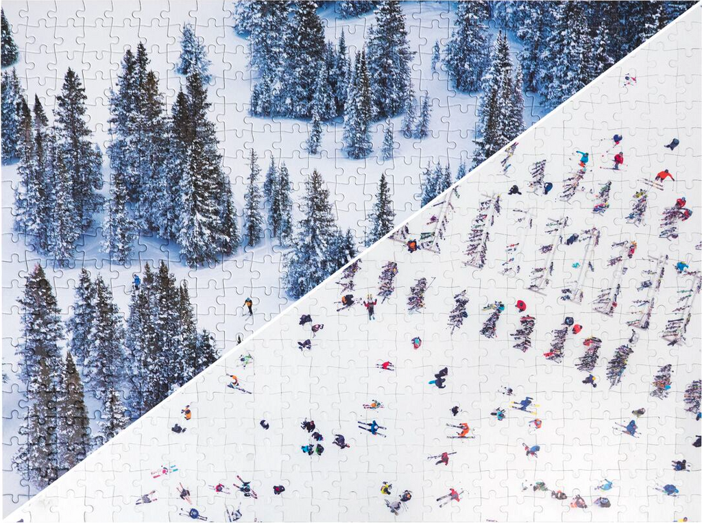 The Snow Jigsaw Puzzle by Gray Malin