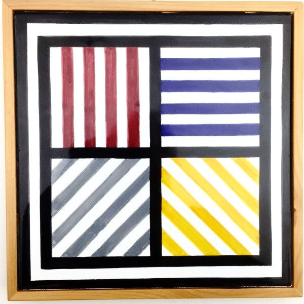 Lines in 4 Directions and 4 Colors Tile by Sol LeWitt