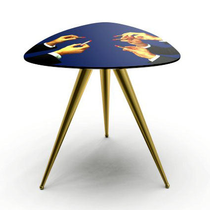 Side Table (Blue Lipsticks) by Maurizio Cattelan