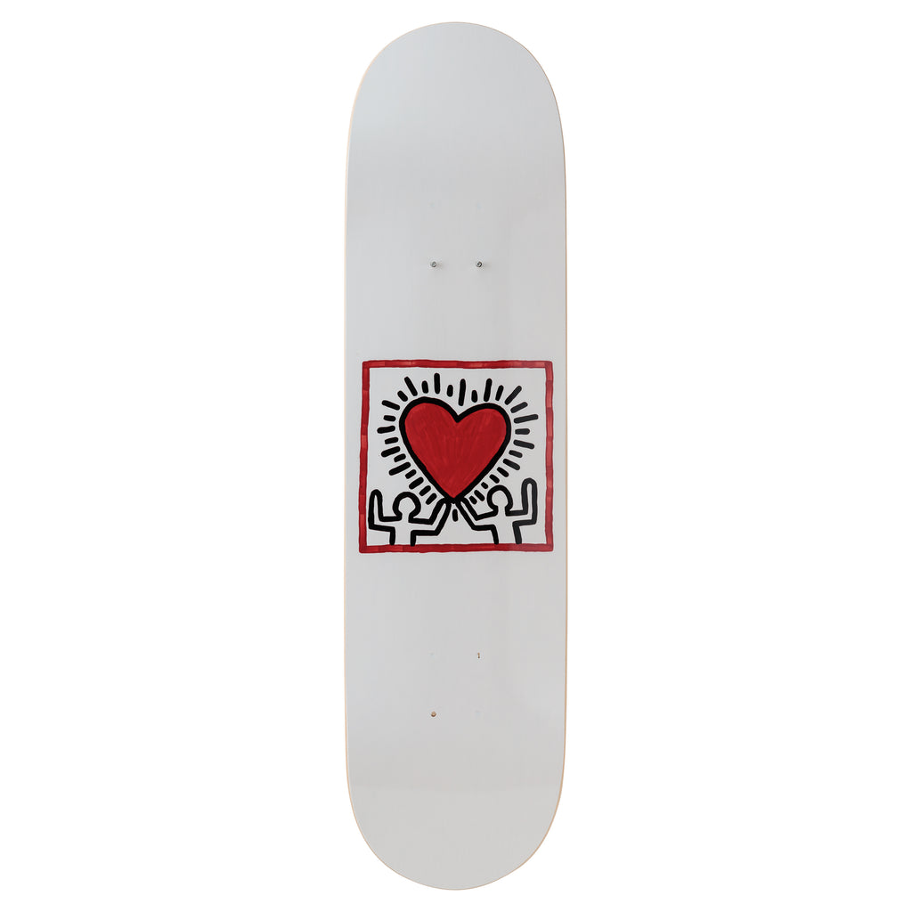 Untitled (Heart) Skateboard Deck after Keith Haring
