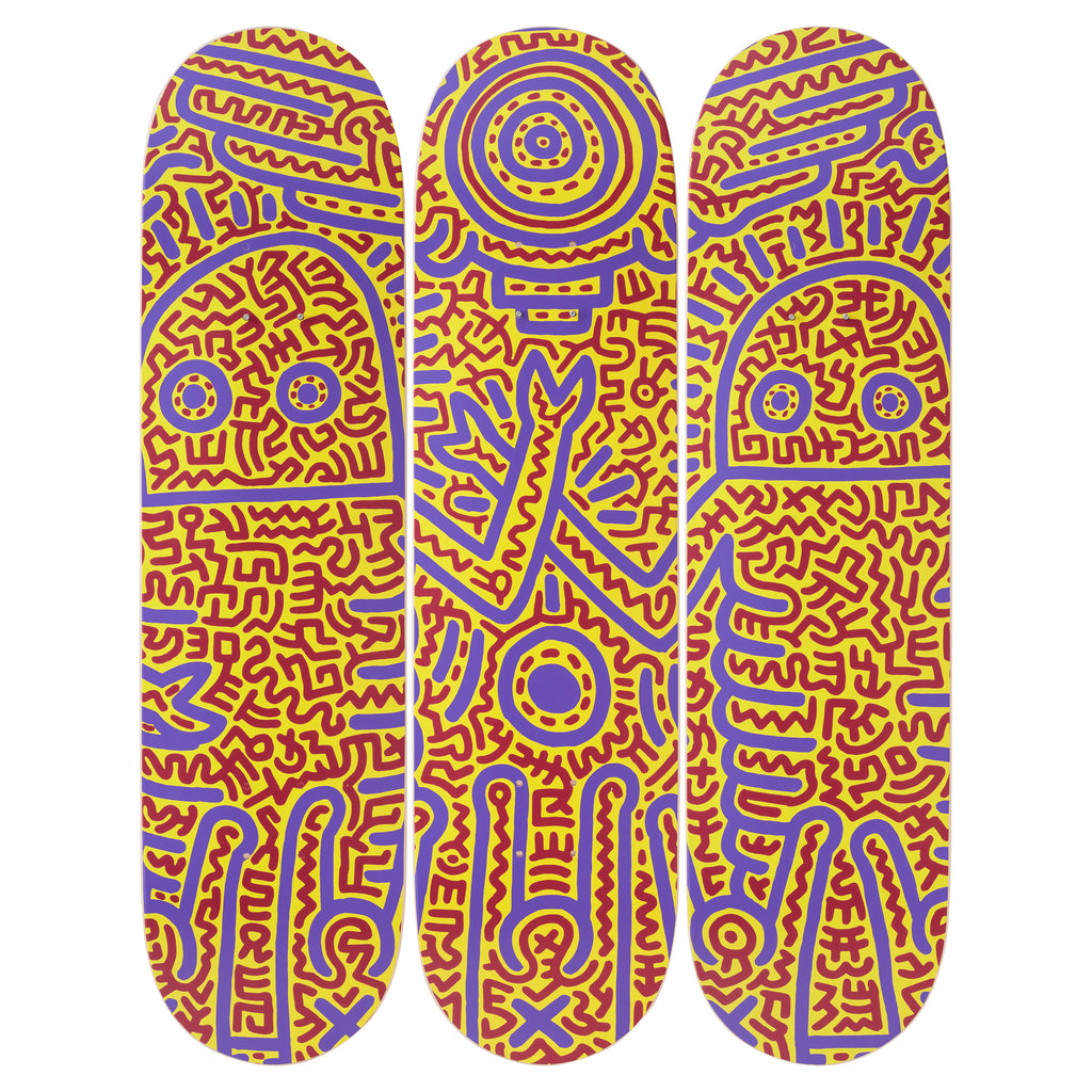 Untitled (1984) Skateboard Decks after Keith Haring