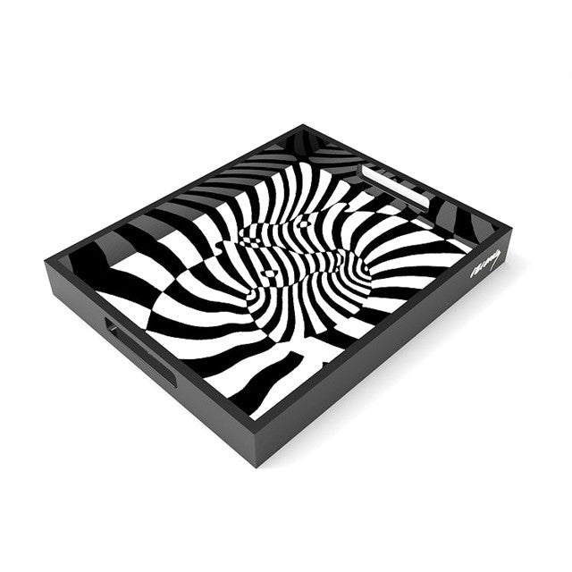 Zebra Tray by Victor Vasarely