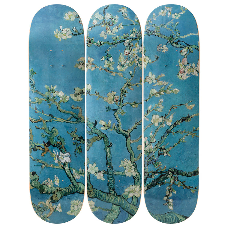 Almond Blossoms Skateboard Decks after Vincent Van Gogh