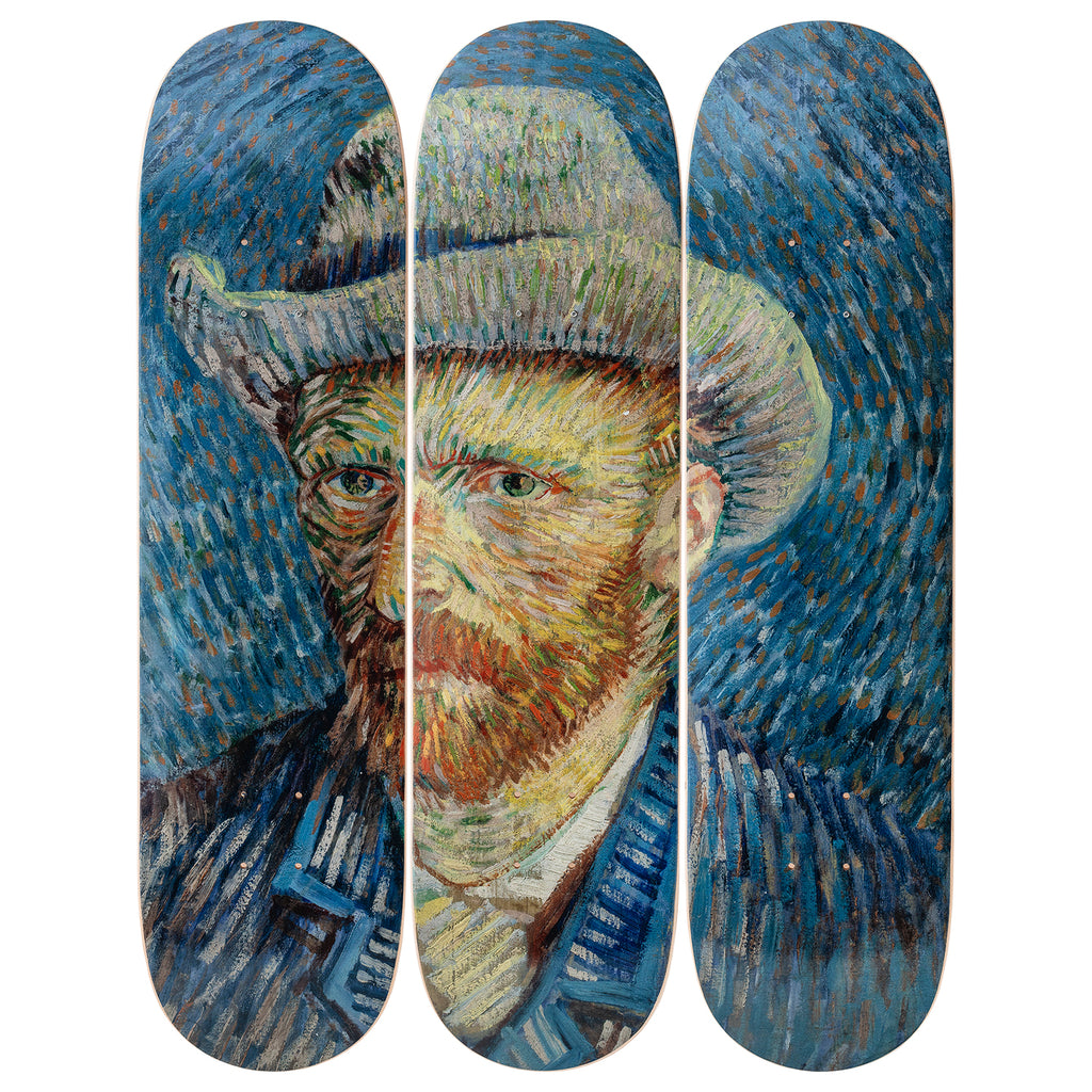 Self-Portrait Skateboard Decks after Vincent Van Gogh