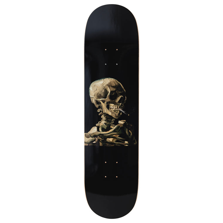 Skull Skateboard Deck after Vincent Van Gogh