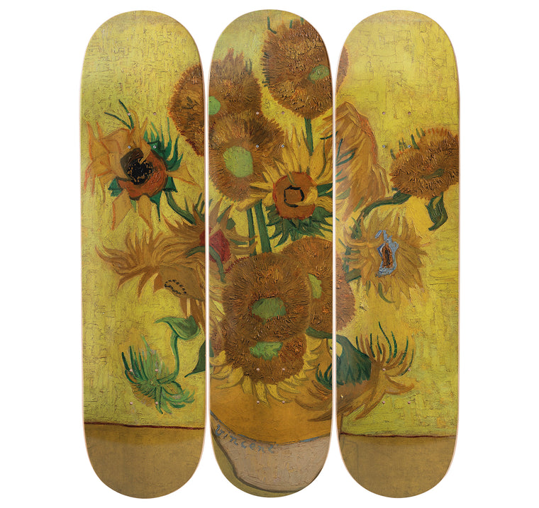 Sunflowers Skateboard Decks after Vincent Van Gogh