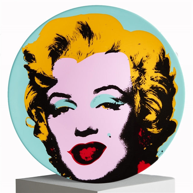 Marilyn Plate (Blue) by Andy warhol