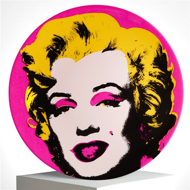Marilyn Plate (Pink) by Andy warhol