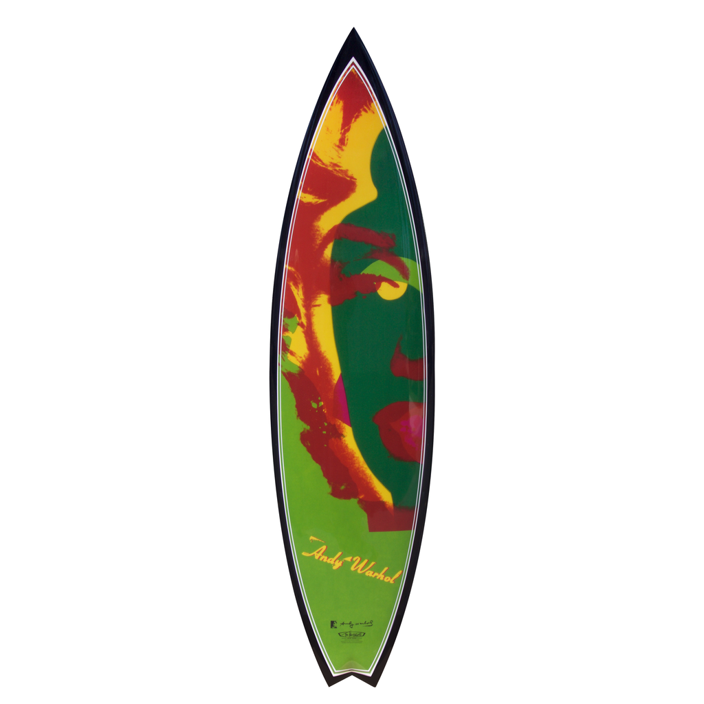 Marilyn Surfboard by Andy Warhol