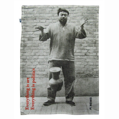 Dropping an Urn Kitchen Towel by Ai Weiwei