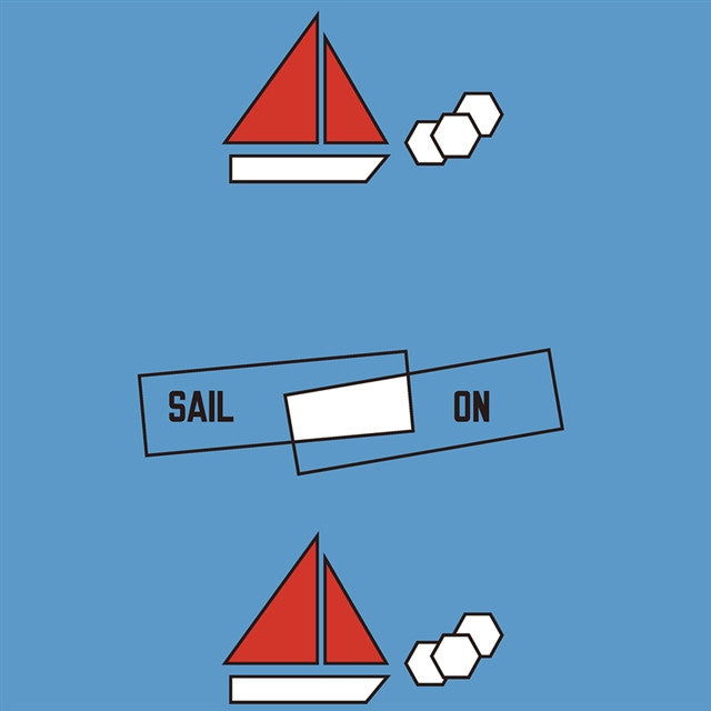SAIL ON Wallpaper by Lawrence Weiner