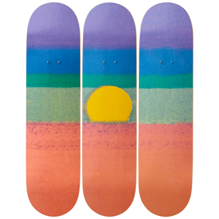 Sunset (Orange) Skateboard Decks after Andy Warhol
