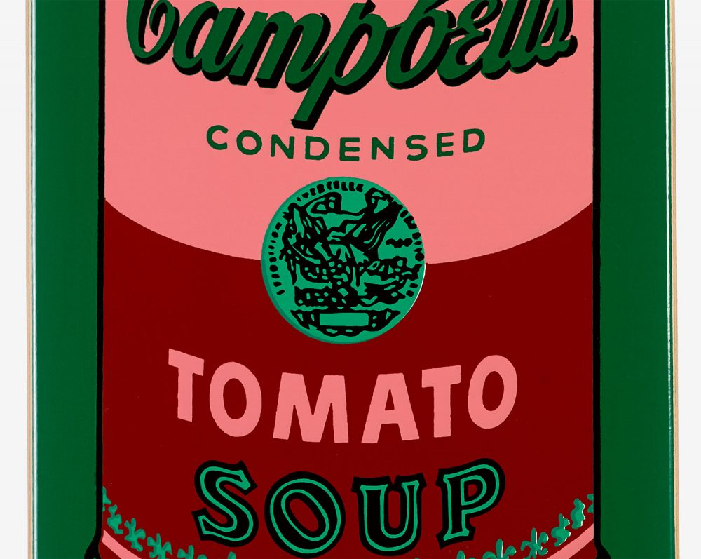 Coloured Campbell's Soup (Blood) after Andy Warhol