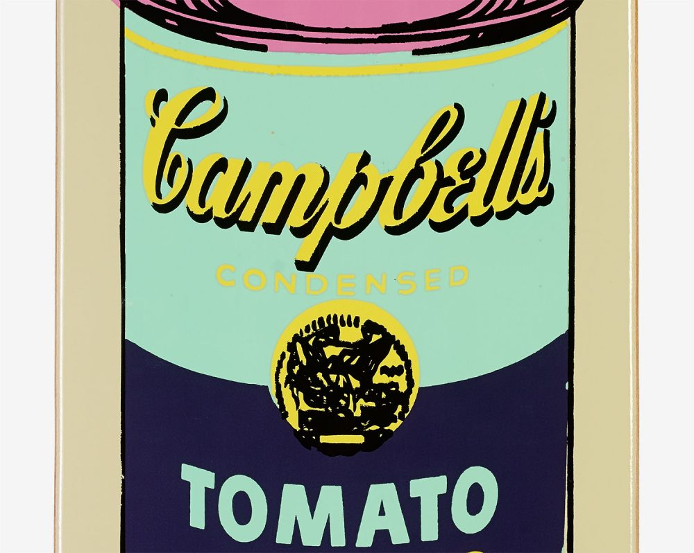 Coloured Campbell's Soup (Eggplant) by Andy Warhol