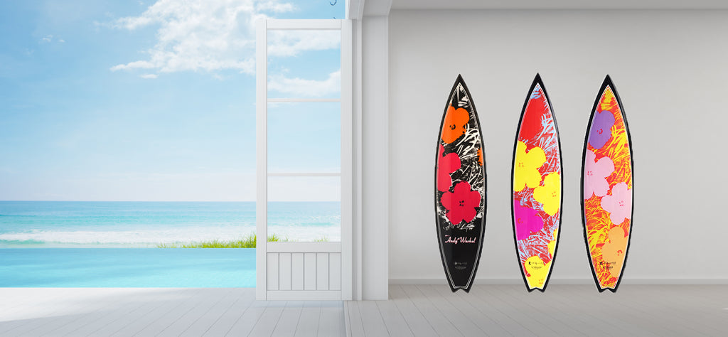 Flowers Surfboard by Andy Warhol