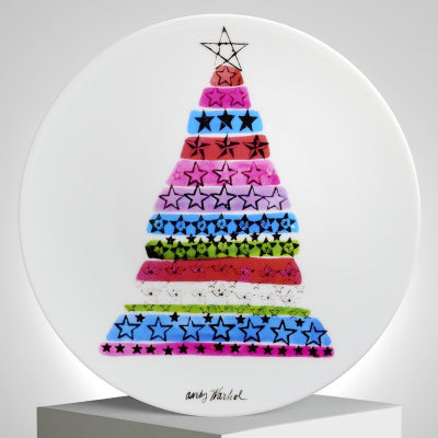 Christmas Tree Plate by Andy Warhol