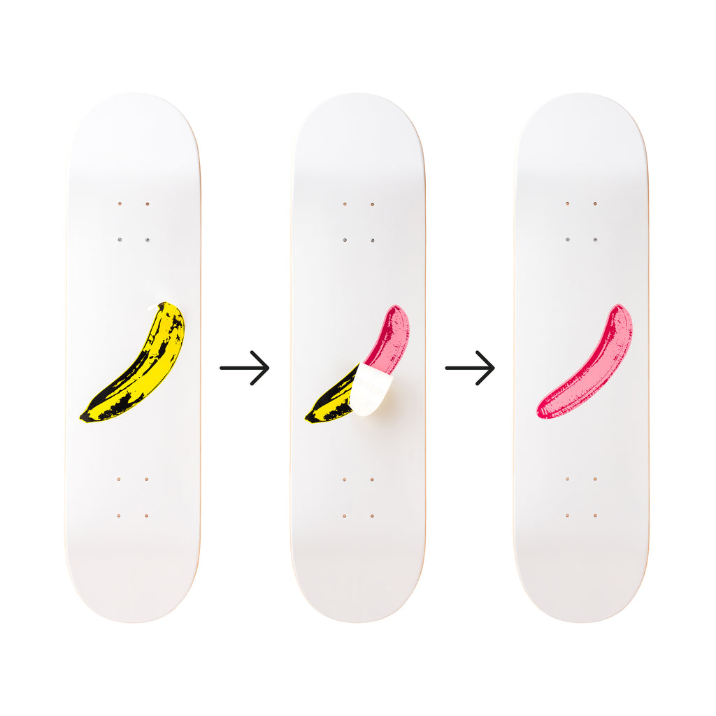 Banana Skateboard Deck after Andy Warhol