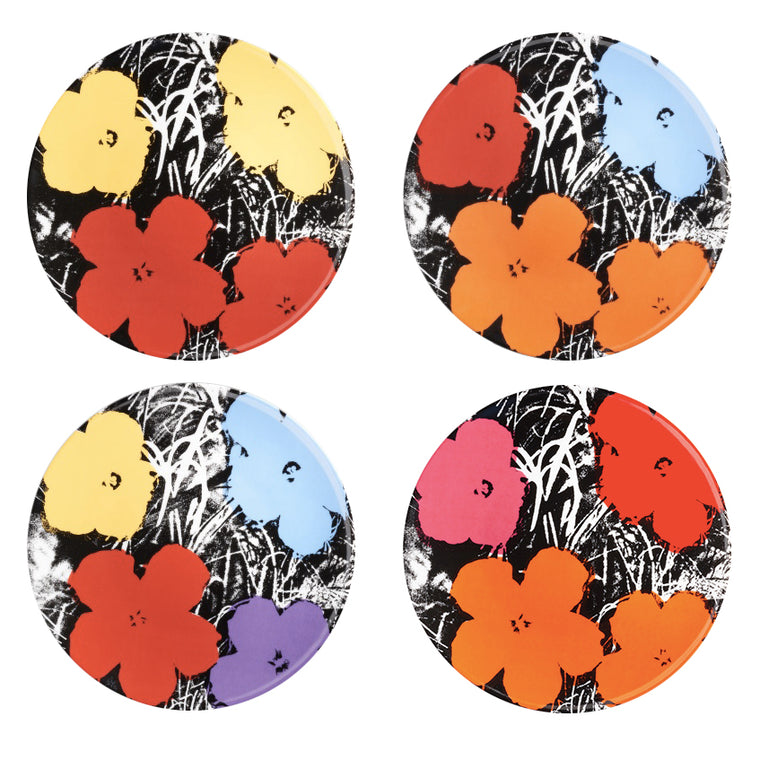 Flowers Plate Set by Andy Warhol