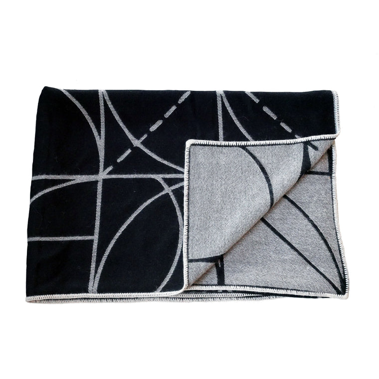 Lines and Arcs Reversible Throw by Sol LeWitt