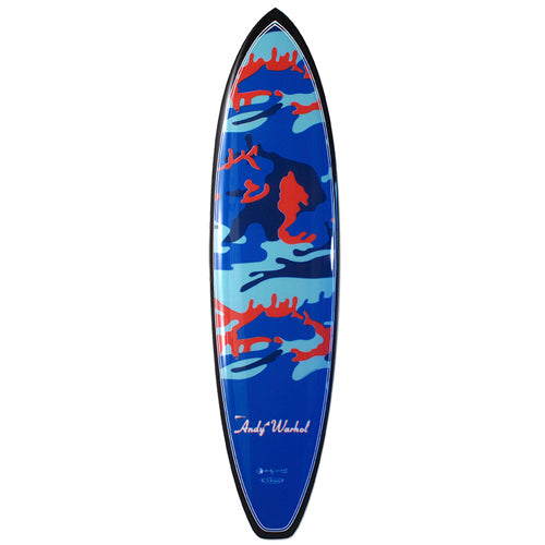 Camo Surfboard by Andy Warhol
