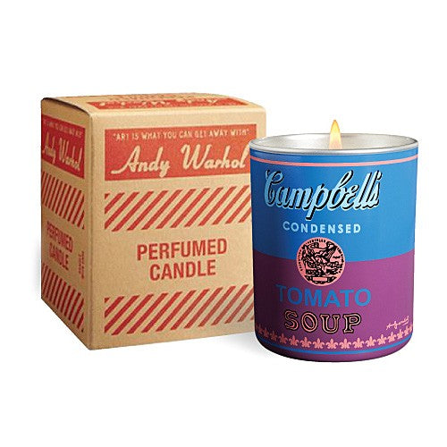 Campbell's Soup Can (blue/purple) Candle by Andy Warhol