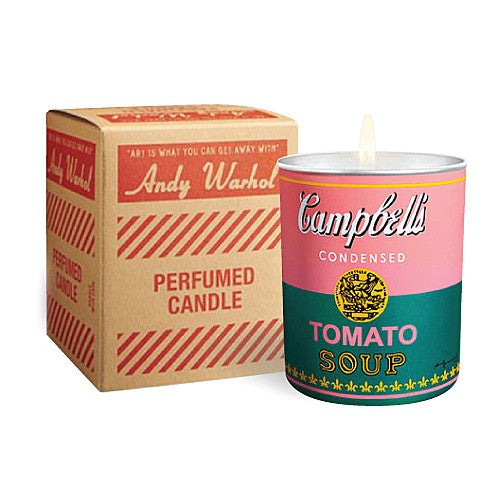 Campbell's Soup Can (pink/green) Candle by Andy Warhol