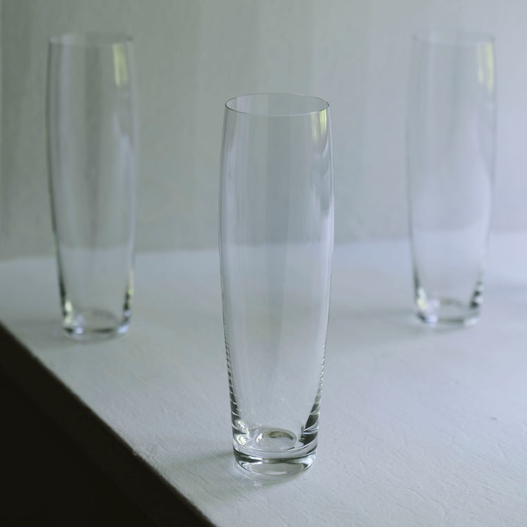 Curved Champagne Glass (set of 2) by Deborah Ehrlich