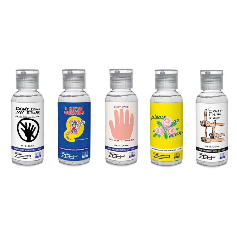 Hand Sanitizer Travel Pack by David Shrigley & Magda Archer