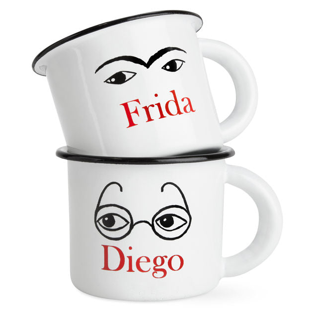 Frida & Diego Mugs by Natalie Saint-Martin
