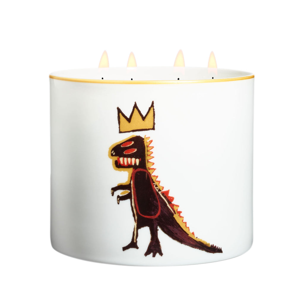 Golden Dragon Candle (large) by Jean-Michel Basquiat