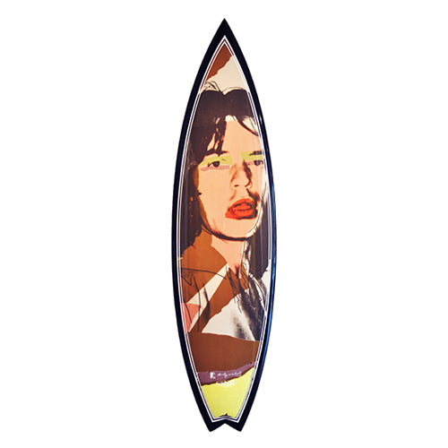 Mick Jagger Surfboard by Andy Warhol
