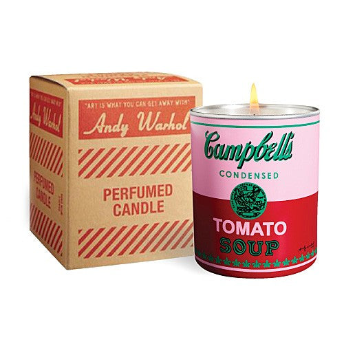 Campbell's Soup Can (pink/red) Candle by Andy Warhol