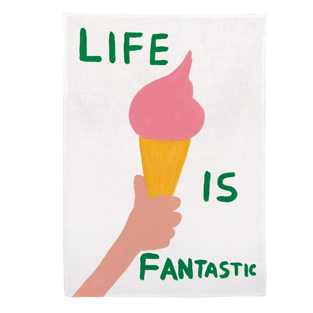 Kitchen Towel (Life) by David Shrigley