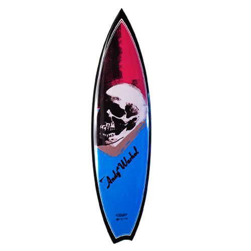 Skull Surfboard by Andy Warhol