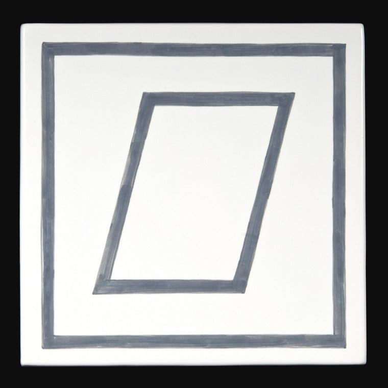 Geometric Figures Within Square Tiles by Sol LeWitt