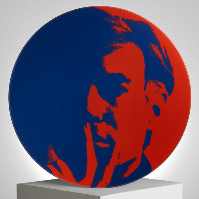 Self-Portrait Plate (blue/red) by Andy Warhol