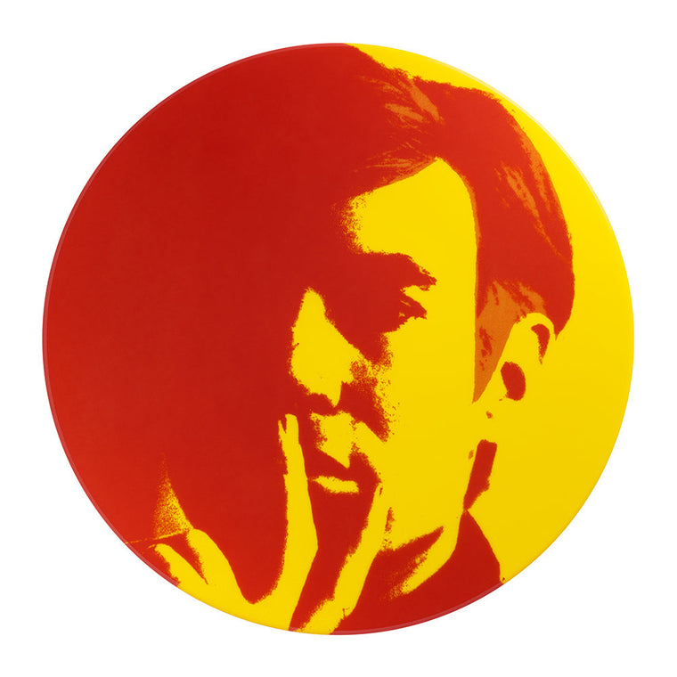 Self-Portrait Plate (red/yellow) by Andy Warhol