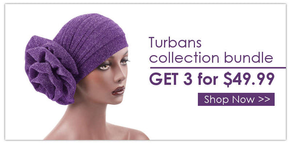 Modest Fashion Mall Banner blog post turbans collection bundle get 3 for $49.99 head wraps hijabs head coverings