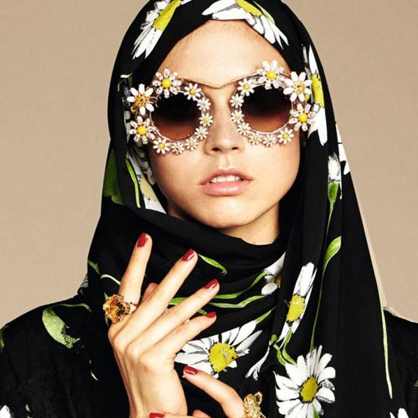 Modest Fashion Mall blog post article head coverings hijabs turbans Dolce and Gabana